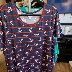 LulaRoe 3XL Jessie Dress Scuba Fabric